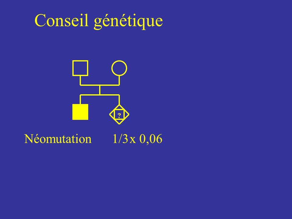 Conseil génétique ? Néomutation1/3x 0,06