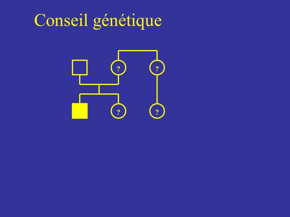 Conseil génétique ?? ? ?