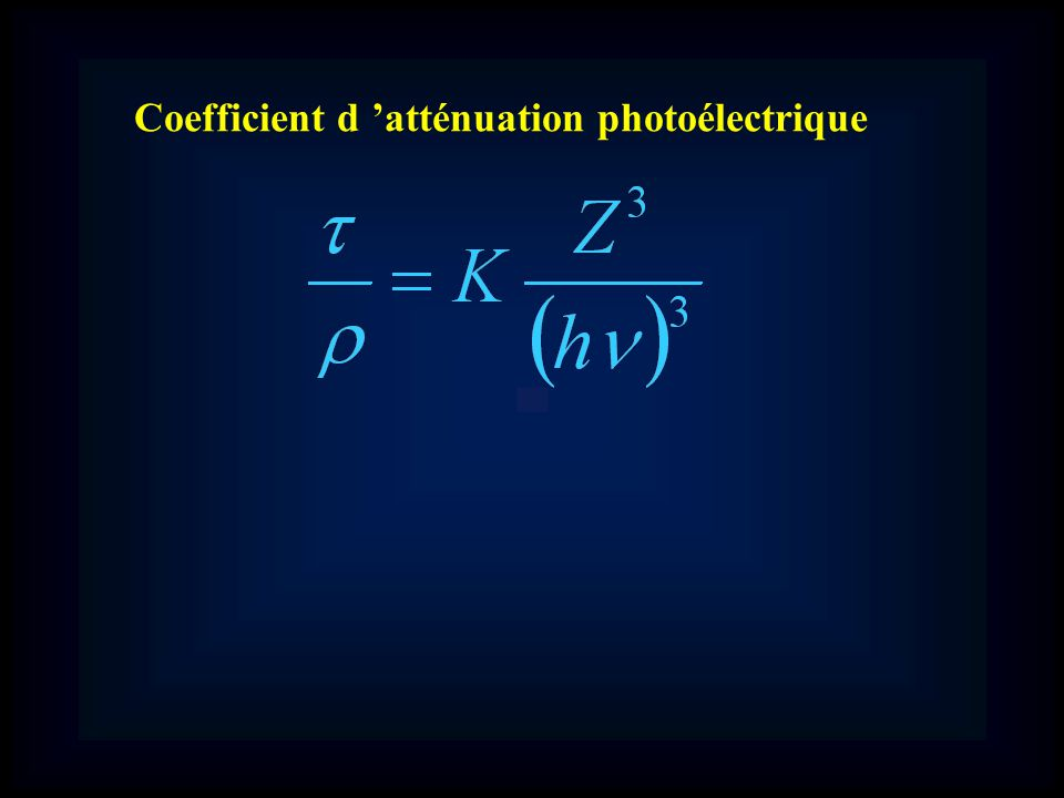 Coefficient d atténuation photoélectrique
