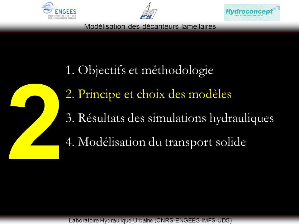 Modélisation des décanteurs lamellaires Laboratoire Hydraulique Urbaine (CNRS-ENGEES-IMFS-UDS) 2 1.
