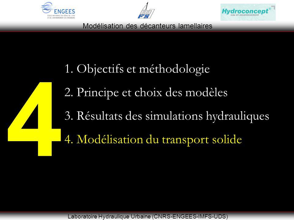 Modélisation des décanteurs lamellaires Laboratoire Hydraulique Urbaine (CNRS-ENGEES-IMFS-UDS) 4 1.