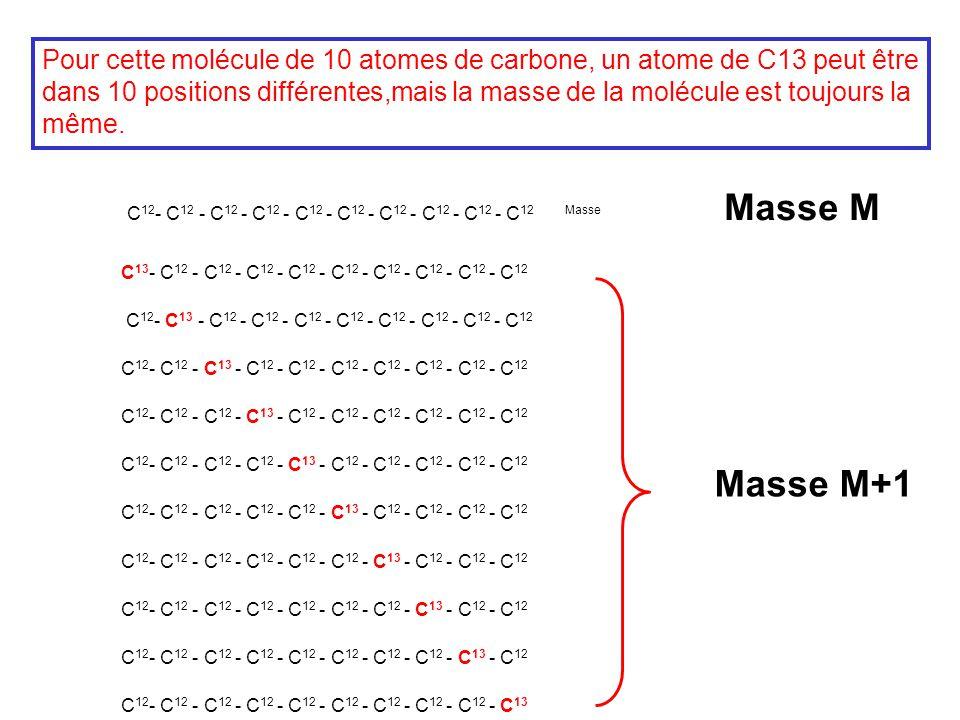 C 12 - C 12 - C 12 - C 12 - C 12 - C 12 - C 12 - C 12 - C 12 - C 12 Masse C 13 - C 12 - C 12 - C 12 - C 12 - C 12 - C 12 - C 12 - C 12 - C 12 C 12 - C
