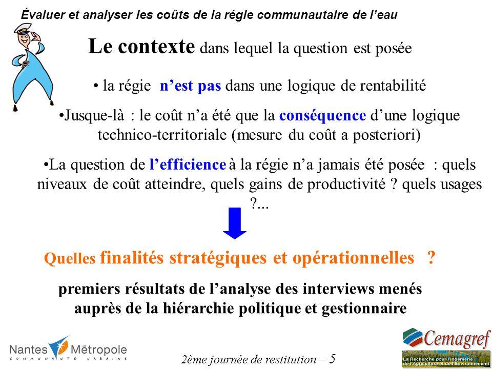 2ème journée de restitution – 5 Évaluer et analyser les coûts de la régie communautaire de leau Quelles finalités stratégiques et opérationnelles ? pr