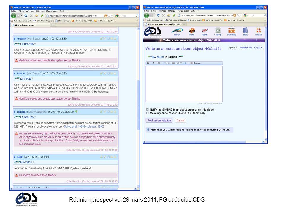 Réunion prospective, 29 mars 2011, FG et équipe CDS