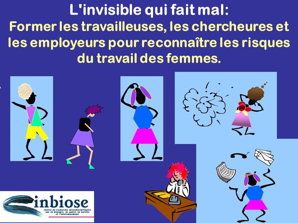 L invisible qui fait mal: Former les travailleuses, les chercheures et les employeurs pour reconnaître les risques du travail des femmes.