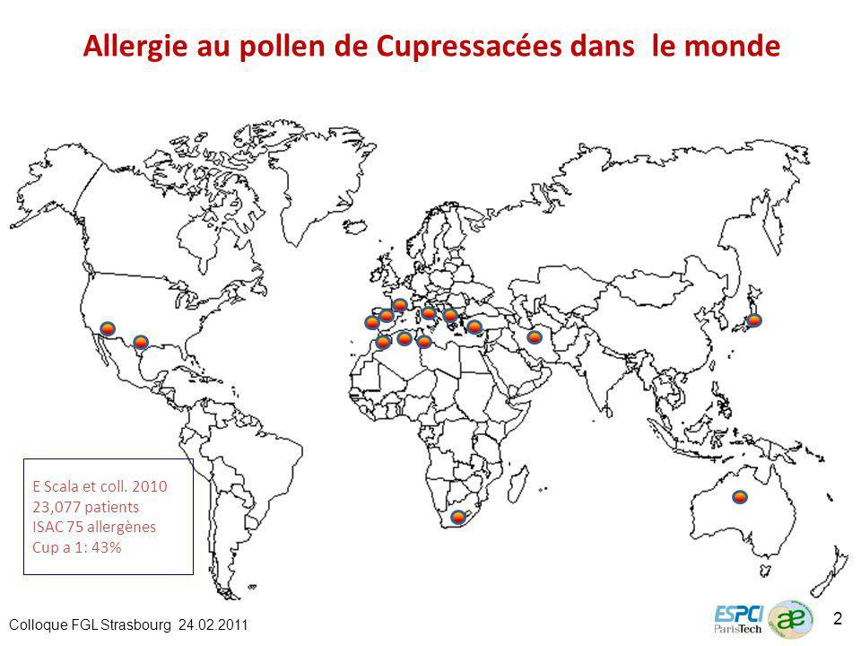 Allergie au pollen de Cupressacées dans le monde E Scala et coll.