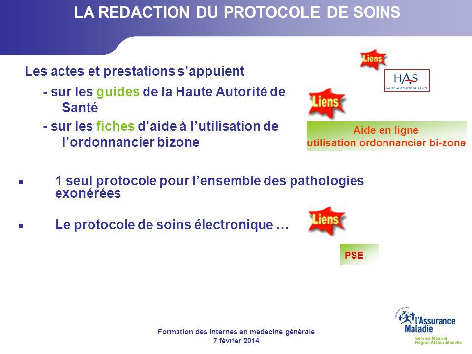 Formation des internes en médecine générale 7 février 2014 Les actes et prestations sappuient - sur les guides de la Haute Autorité de Santé - sur les
