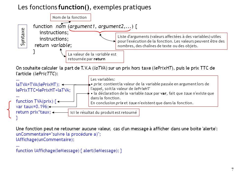 48 Ainsi, soit l image résulte de la balise img du document HTML (collection des images), soit elle résulte de la création d un objet de type Image dans le code javascript.