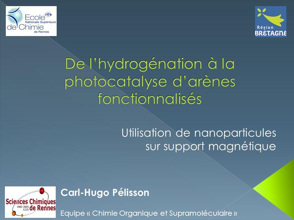 Carl-Hugo Pélisson Equipe « Chimie Organique et Supramoléculaire » Utilisation de nanoparticules sur support magnétique