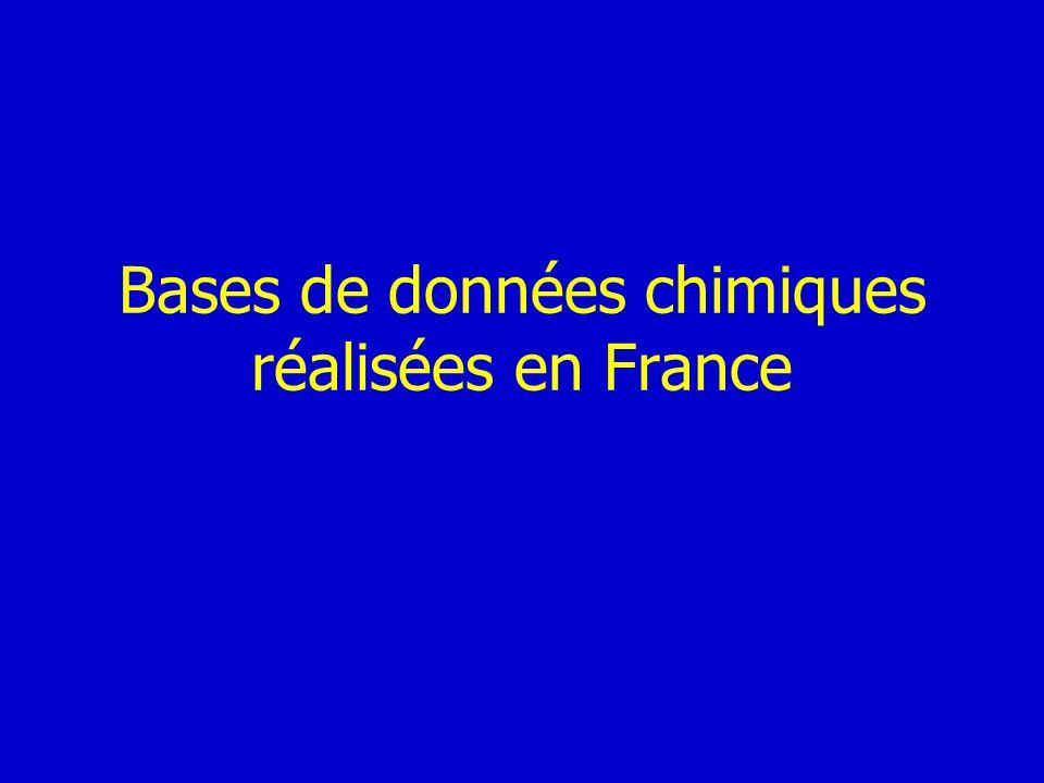 Bases de données chimiques réalisées en France
