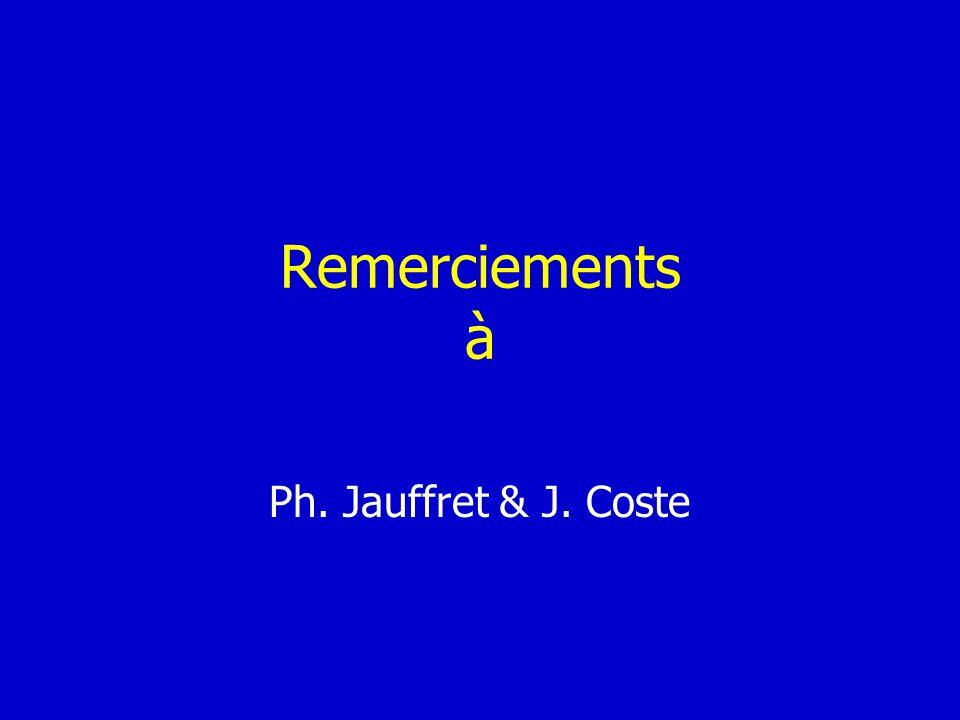 Remerciements à Ph. Jauffret & J. Coste
