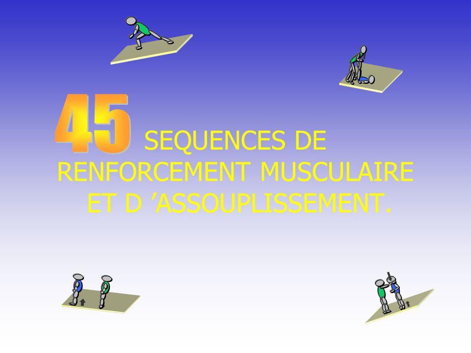 SEQUENCES DE RENFORCEMENT MUSCULAIRE ET D ASSOUPLISSEMENT.
