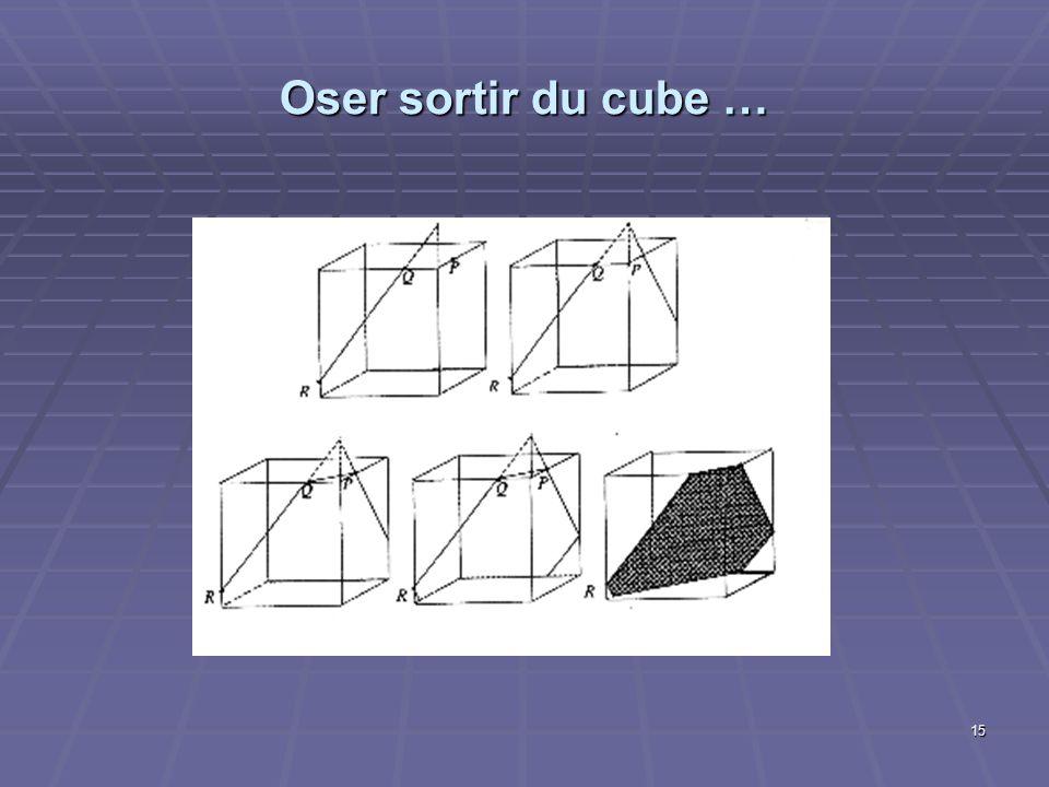 15 Oser sortir du cube …
