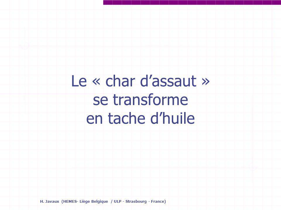 H. Javaux (HEMES- Liège Belgique / ULP - Strasbourg - France) Le « char dassaut » se transforme en tache dhuile