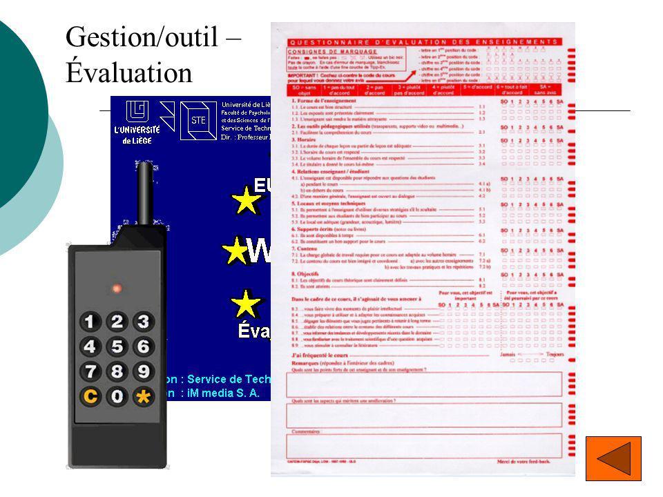 Gestion/outil – Évaluation