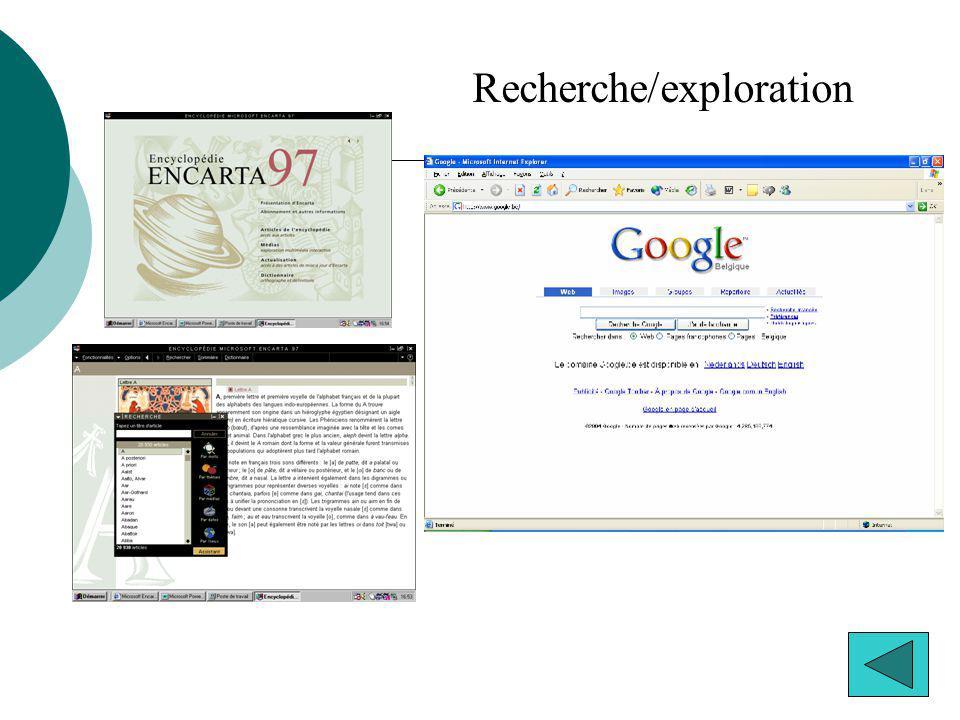 Recherche/exploration