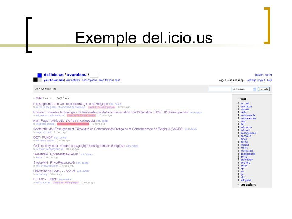 Exemple del.icio.us