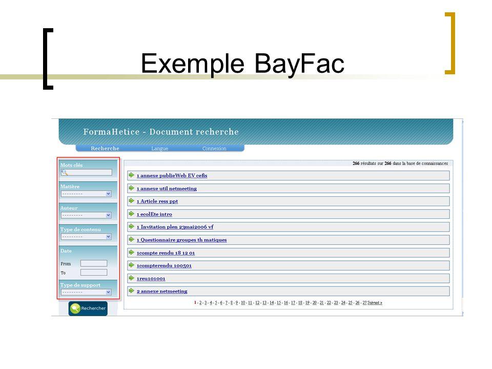 Exemple BayFac