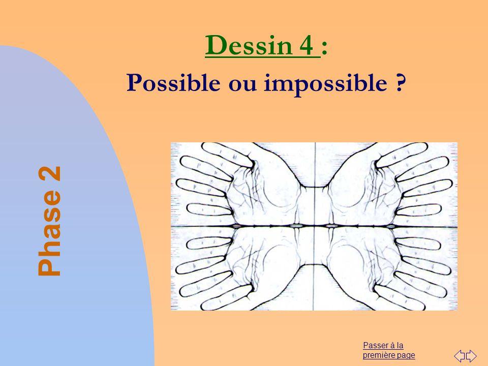 Passer à la première page Dessin 4 : Possible ou impossible ? Phase 2