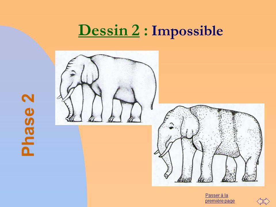 Passer à la première page Dessin 2 : Impossible Phase 2