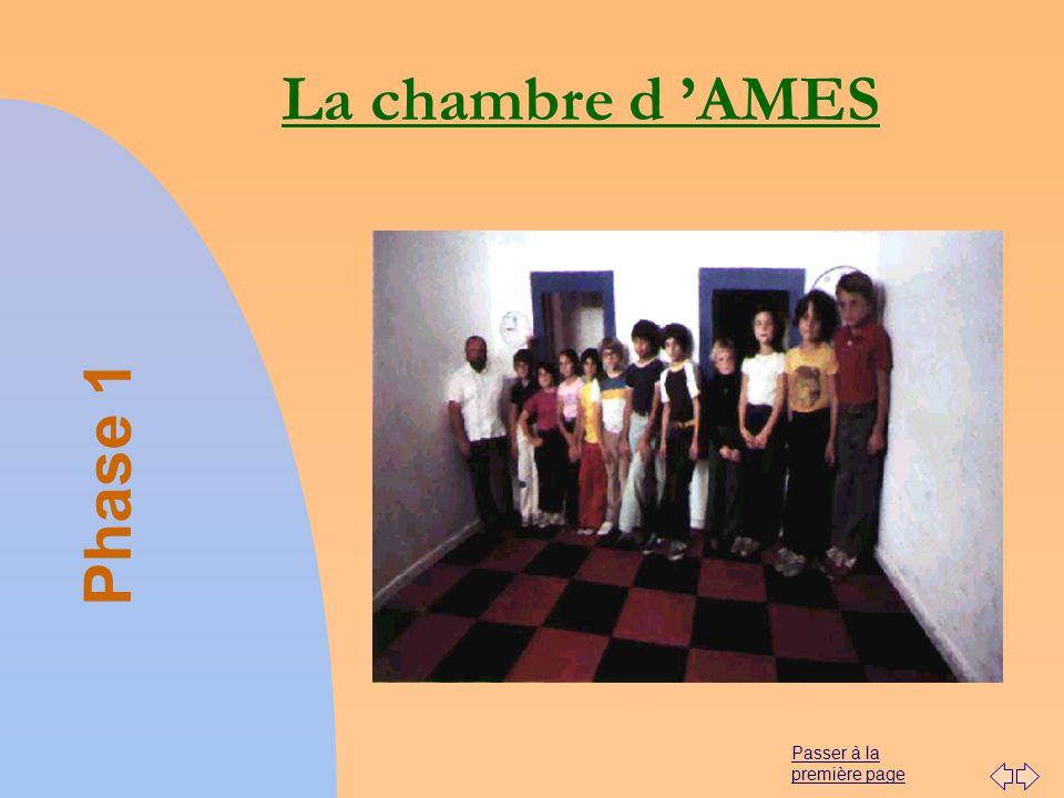 Passer à la première page La chambre d AMES Phase 1