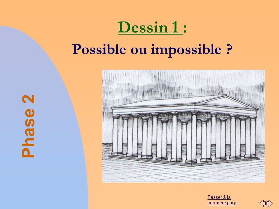 Passer à la première page Dessin 1 : Possible ou impossible ? Phase 2