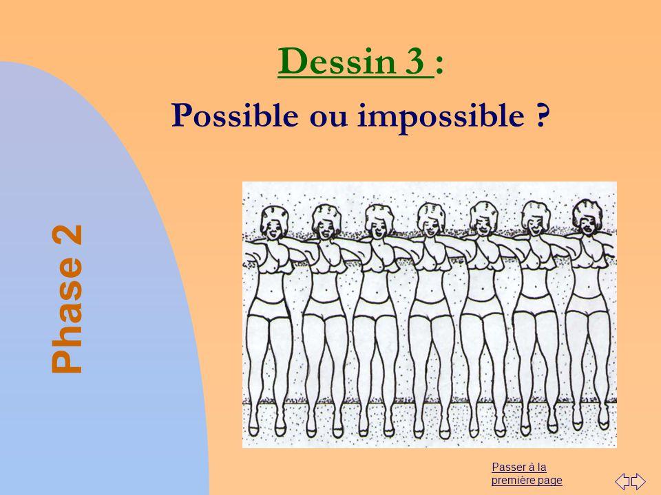 Passer à la première page Dessin 3 : Possible ou impossible ? Phase 2