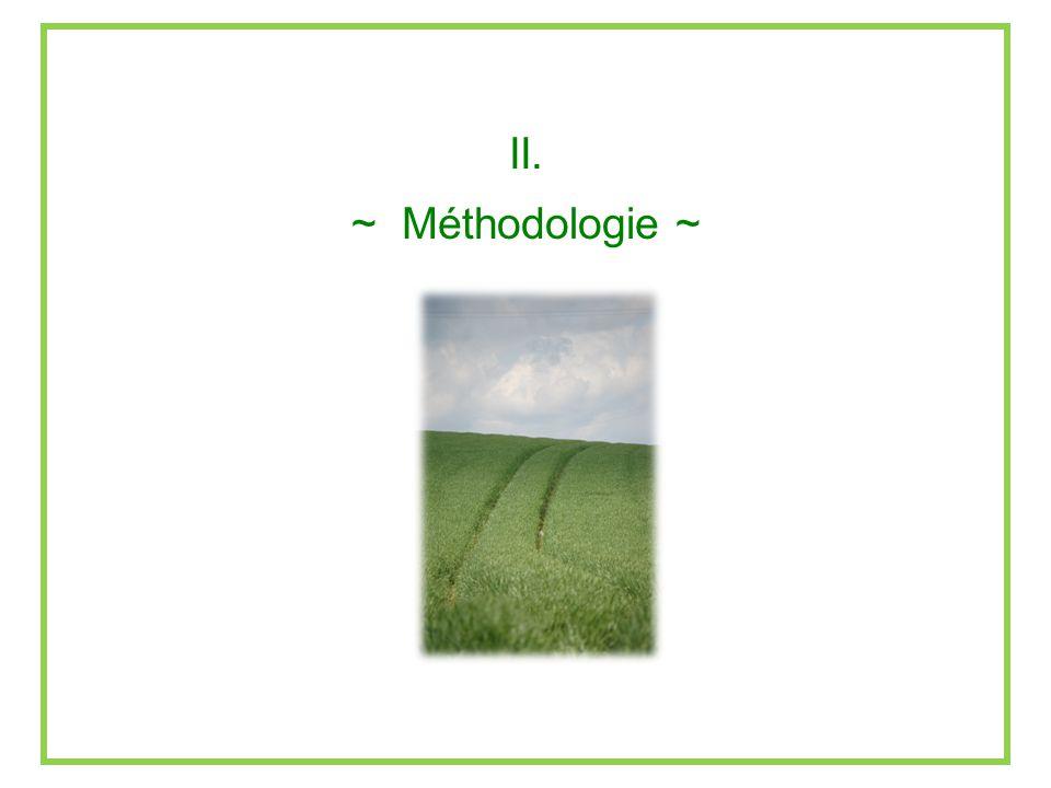 II. ~ Méthodologie ~