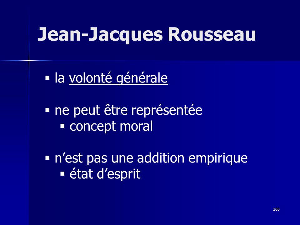 la volonté générale ne peut être représentée concept moral nest pas une addition empirique état desprit Jean-Jacques Rousseau 100
