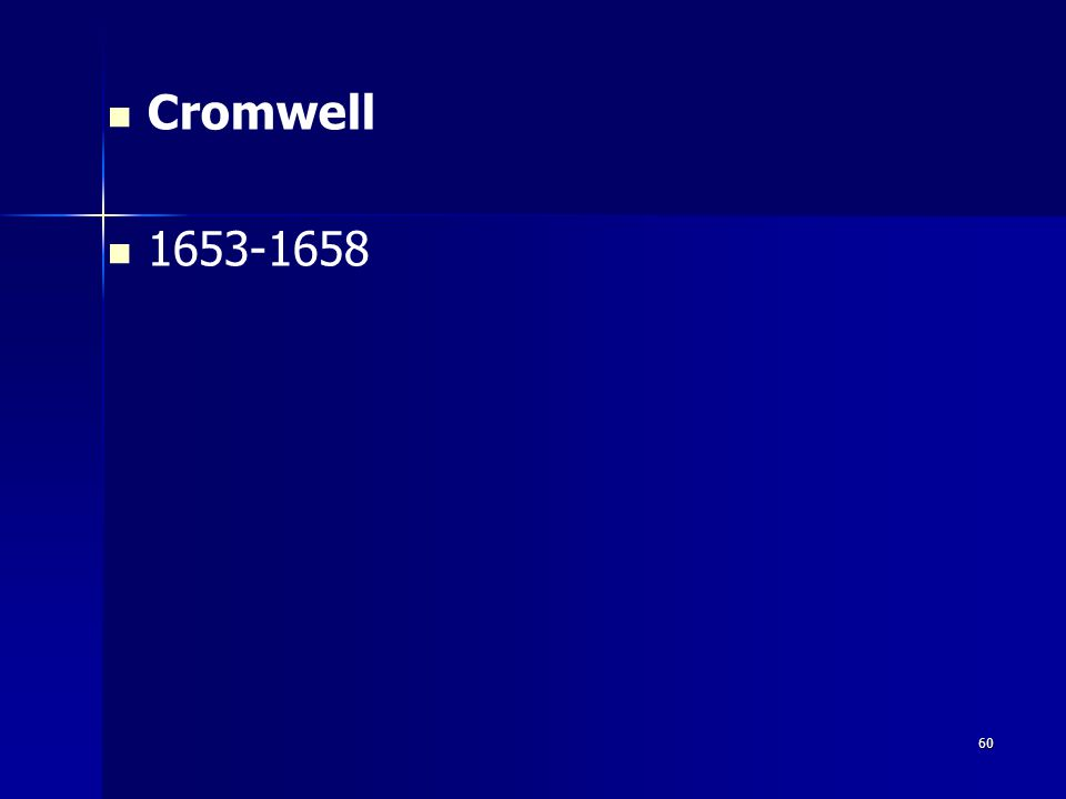 Cromwell 1653-1658 60