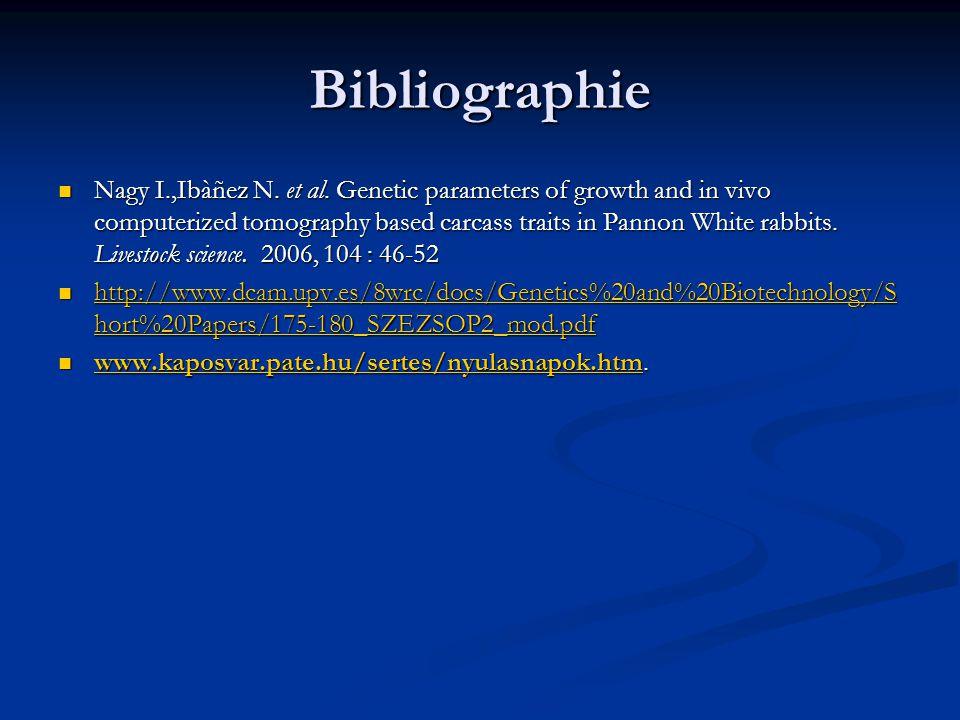 Bibliographie Nagy I.,Ibàñez N.et al.