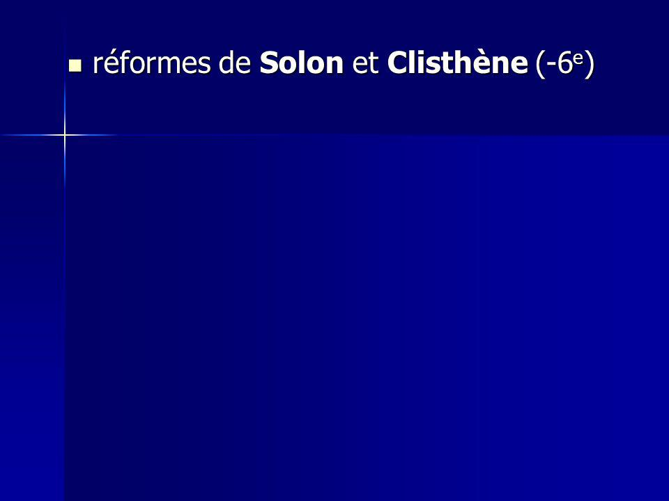 réformes de Solon et Clisthène (-6 e ) réformes de Solon et Clisthène (-6 e )
