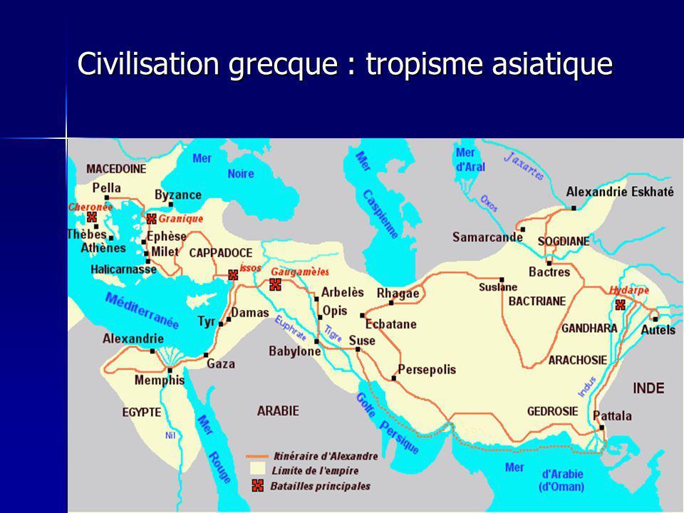 Civilisation grecque : tropisme asiatique