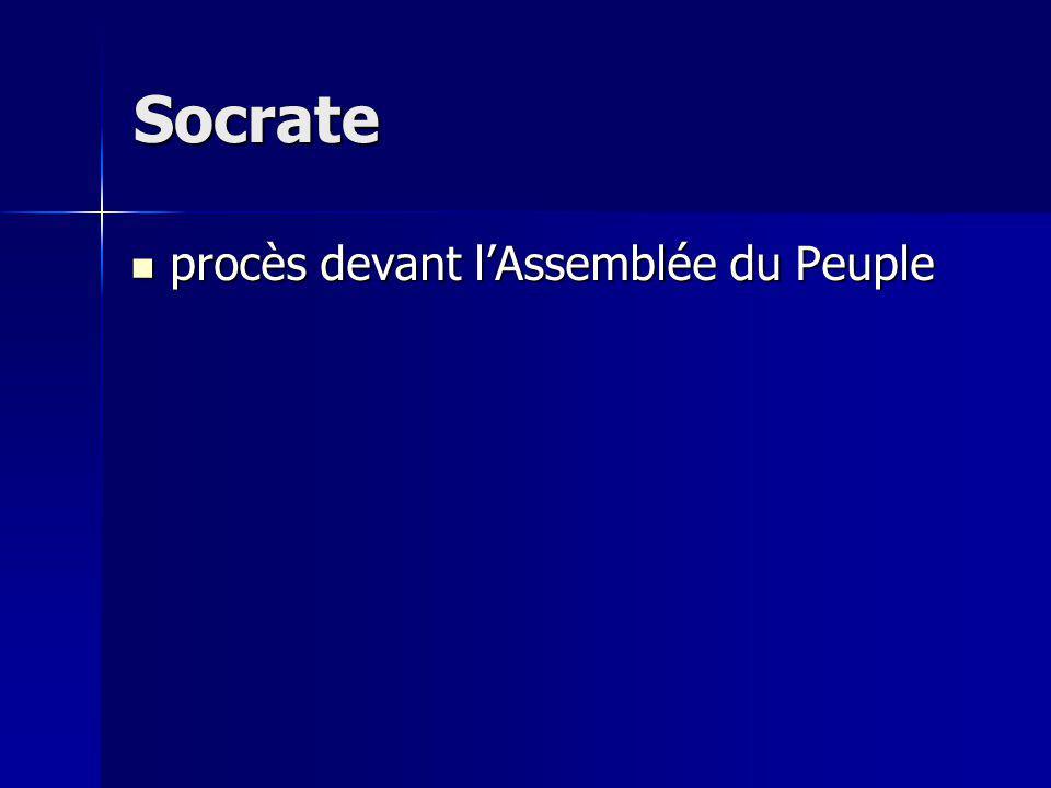 procès devant lAssemblée du Peuple procès devant lAssemblée du Peuple Socrate