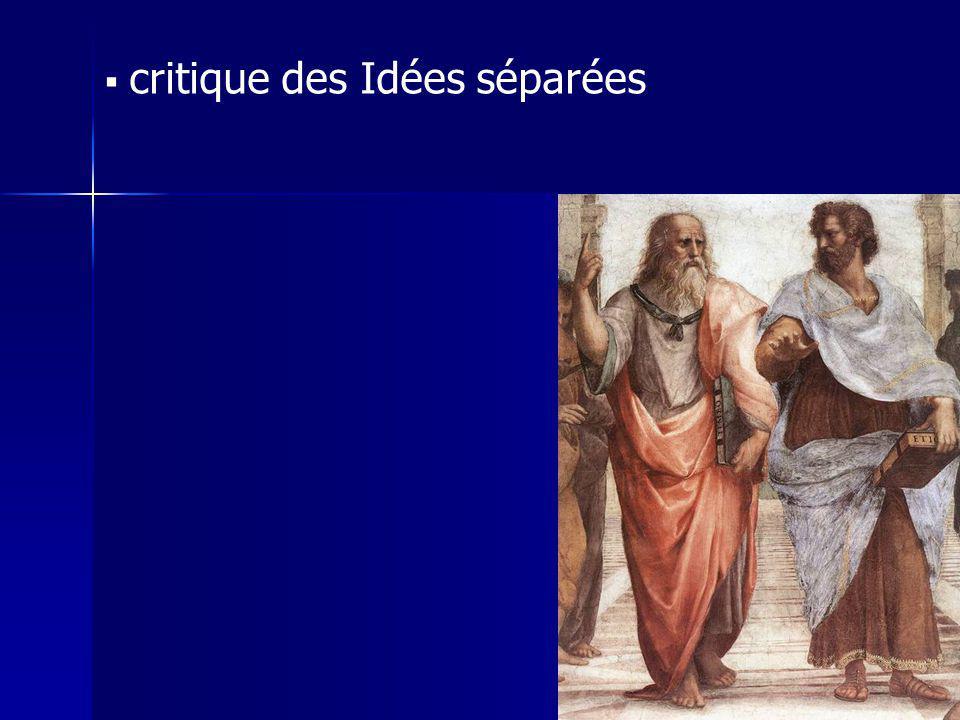 critique des Idées séparées