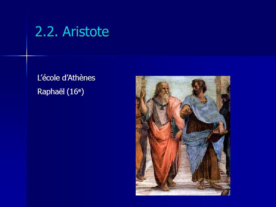 2.2. Aristote Lécole dAthènes Raphaël (16 e )