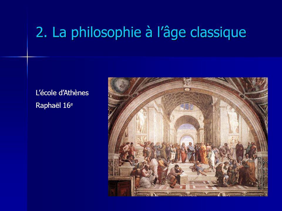 2. La philosophie à lâge classique Lécole dAthènes Raphaël 16 e