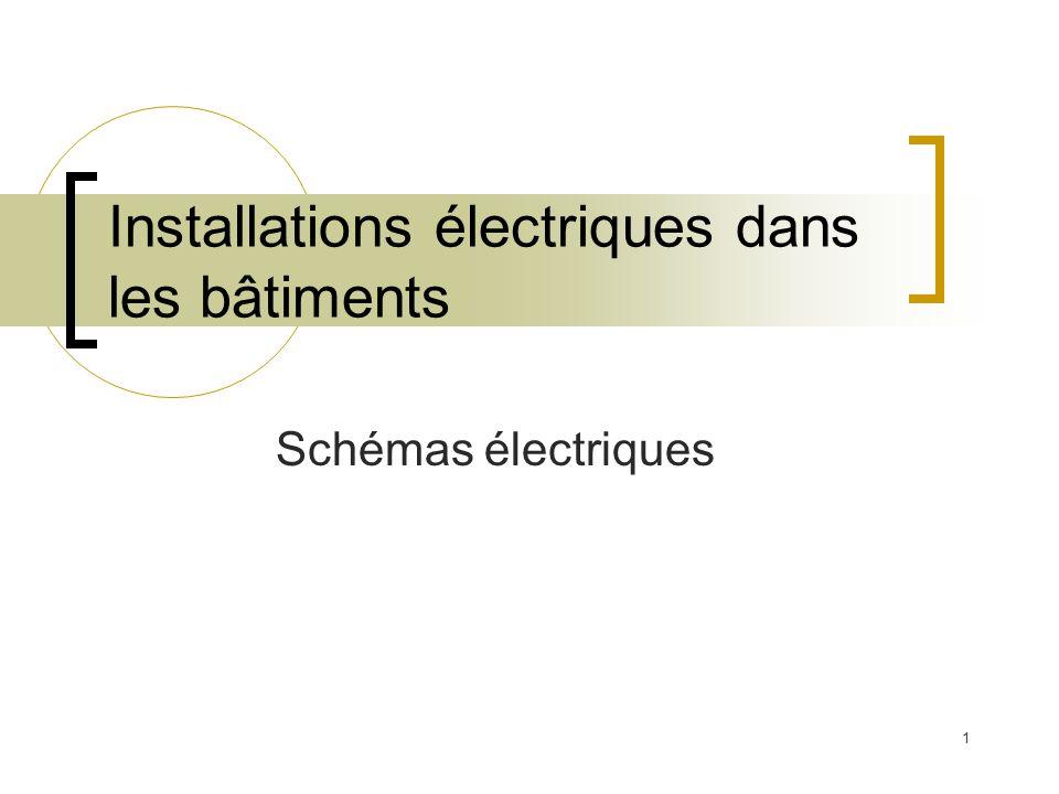 1 Installations électriques dans les bâtiments Schémas électriques