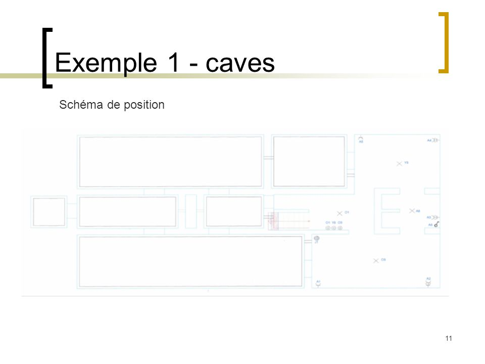 11 Exemple 1 - caves Schéma de position