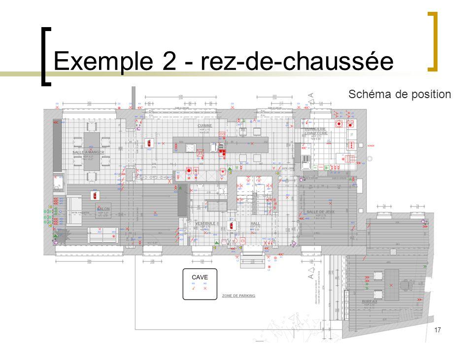17 Exemple 2 - rez-de-chaussée Schéma de position