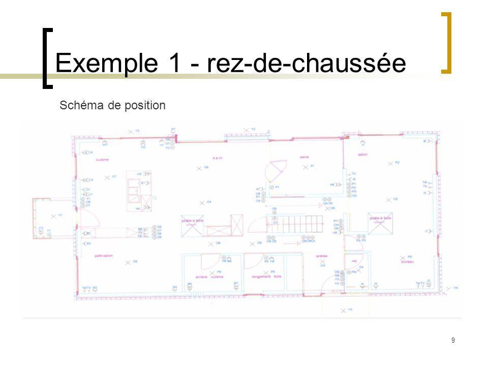 9 Exemple 1 - rez-de-chaussée Schéma de position