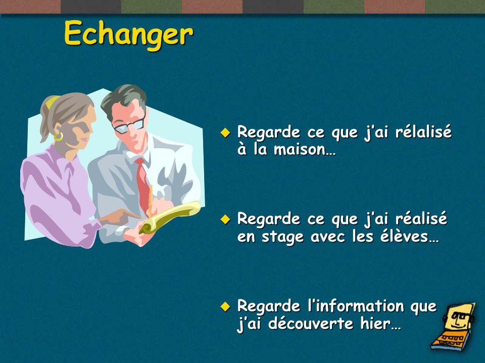 En classe Rechercher Exposer Echanger Appliquer