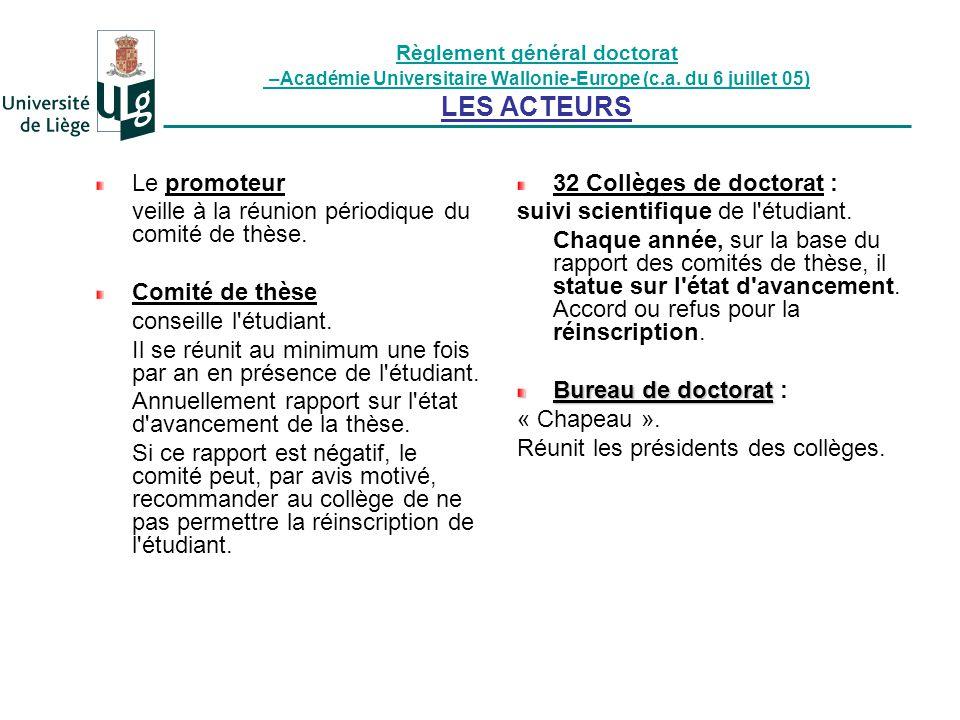 Document C.A.ULg 26/09/07 Écoles doctorales : Organisation de l offre de formation.