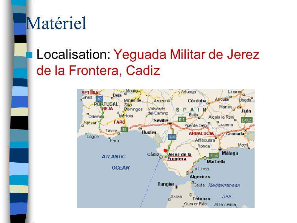 Matériel Localisation: Yeguada Militar de Jerez de la Frontera, Cadiz