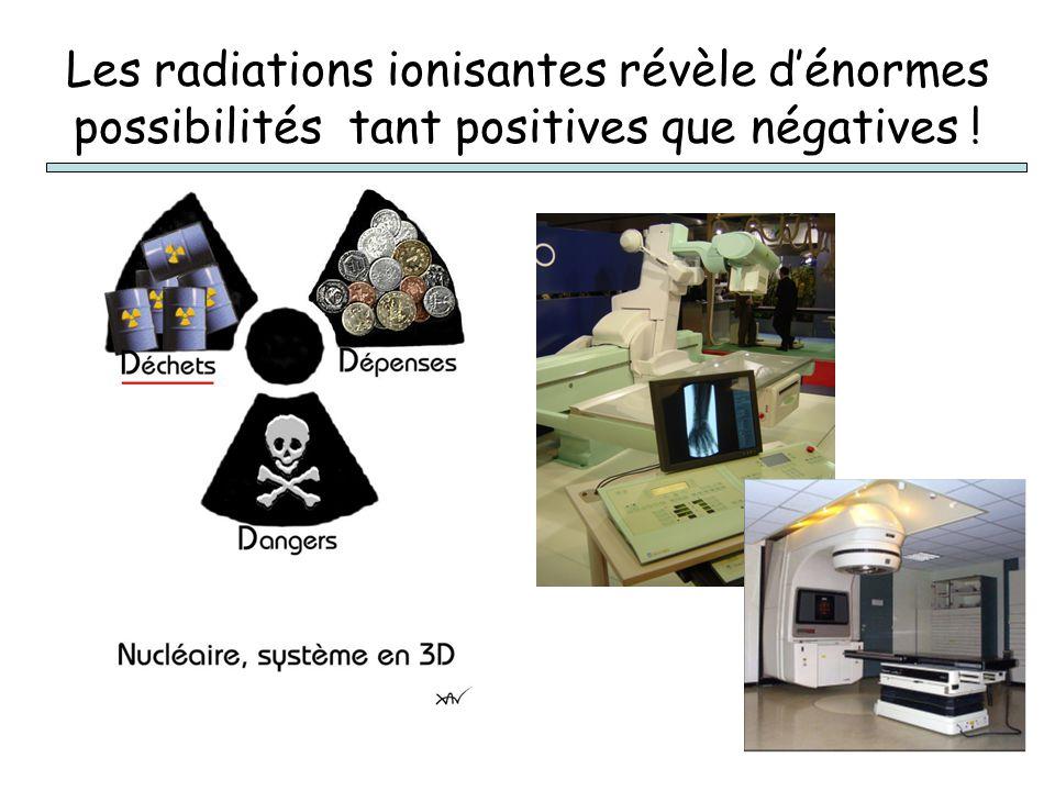 Les radiations ionisantes révèle dénormes possibilités tant positives que négatives !