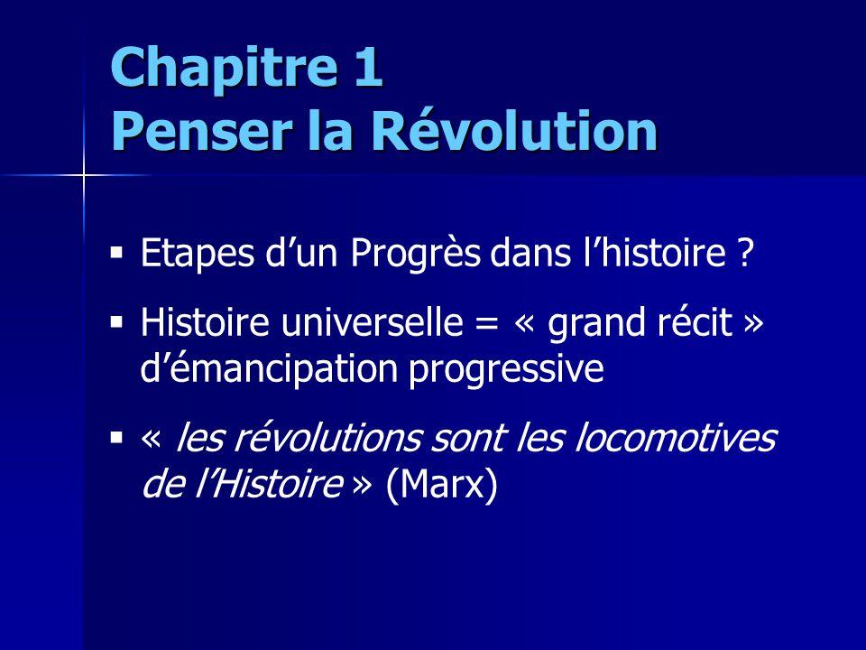 Etapes dun Progrès dans lhistoire ? Histoire universelle = « grand récit » démancipation progressive « les révolutions sont les locomotives de lHistoi