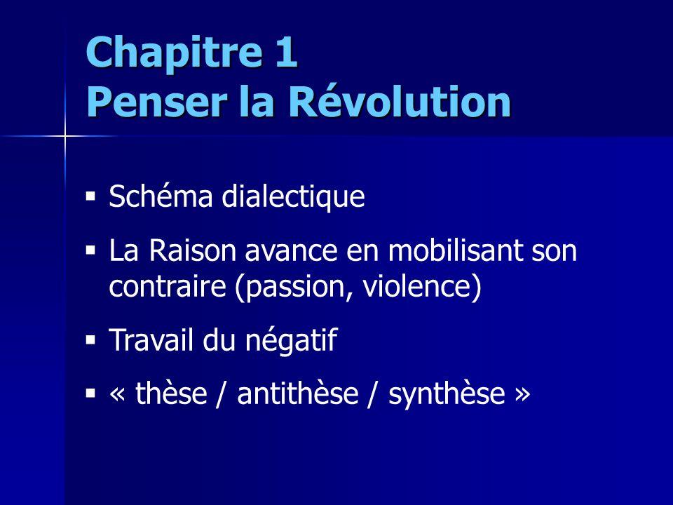 Schéma dialectique La Raison avance en mobilisant son contraire (passion, violence) Travail du négatif « thèse / antithèse / synthèse » Chapitre 1 Pen