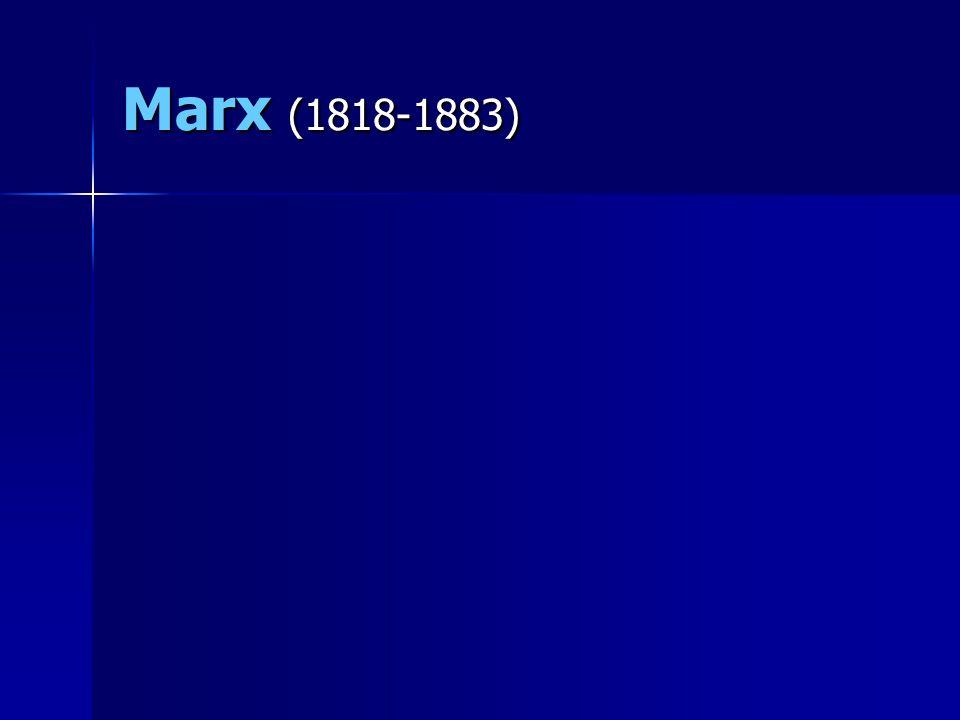 Marx (1818-1883)