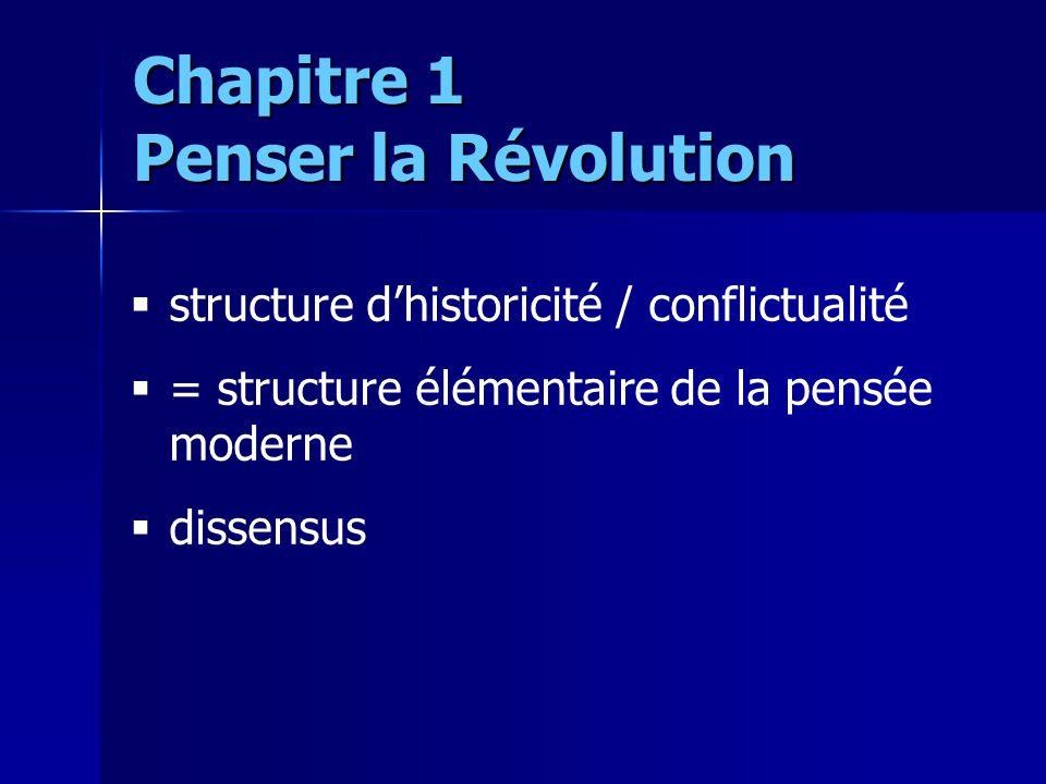 structure dhistoricité / conflictualité = structure élémentaire de la pensée moderne dissensus Chapitre 1 Penser la Révolution