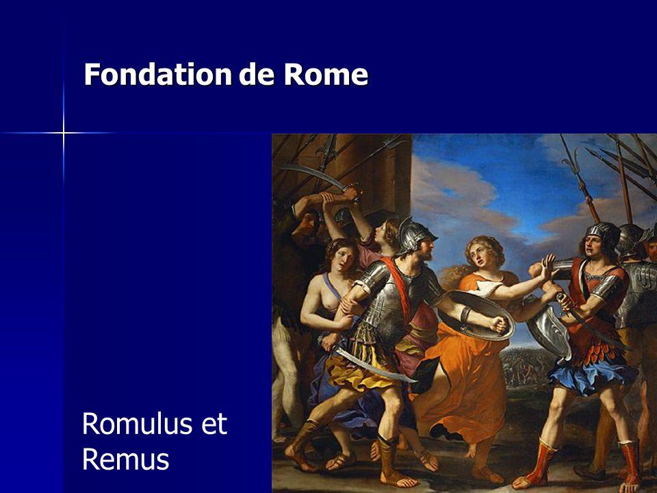 Fondation de Rome Romulus et Remus